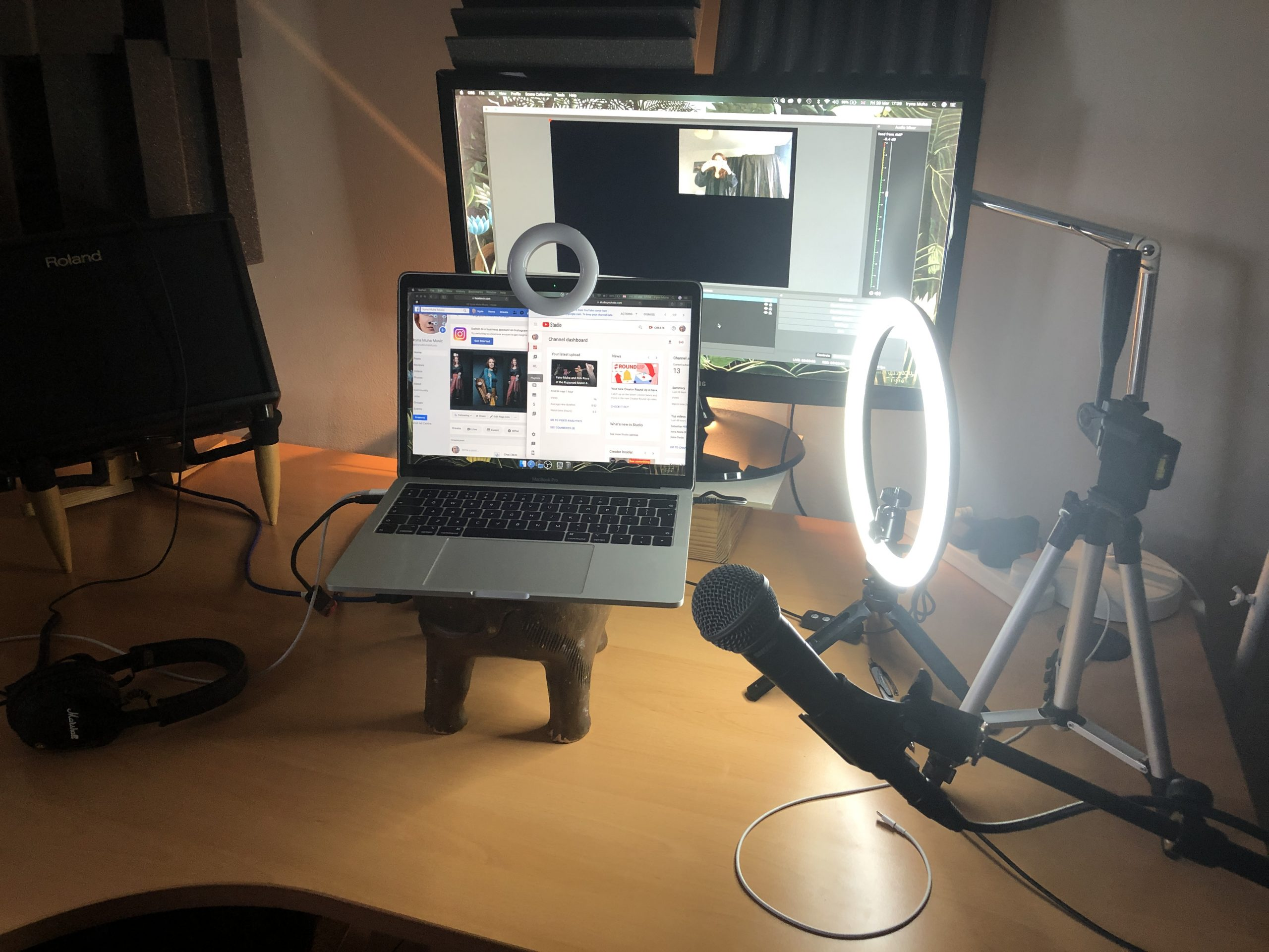 live streaming studio for musicians at home DIY